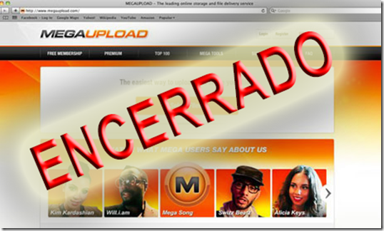 megaupload encerrado