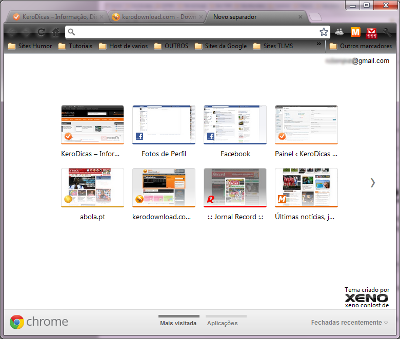 Google Chrome Visitadas